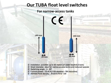 Small diameter float level switches ATMI