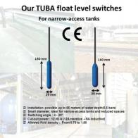 Small diameter float level switches TUBA